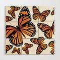 Wooden Wall Art | Monarch Butterflies | Monarch Butterfly | Vintage Butterflies | Butterfly Patterns | by Eclectic At Heart - 3' X 3' - Society6