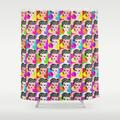 "Bathroom Shower Curtain | Pop Art Barbie by Gigglebox - 71"" by 74"" - Society6"