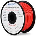 12 Gauge Wire, SHONSIN 12 AWG Silicone Wire 100% Copper (150ft / 45.75m Red) Ultra Flexible High Temp 392℉/200℃ 12AWG Wire 680 Strands 0.08mm (3.42mm2) Rating 36 Amp Automotive Wire 600V