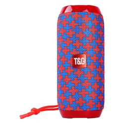 Tech Zebra Wireless Speakers Red - Red & Blue Plus Sign Water-Resistant Tall Bluetooth Speaker