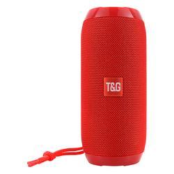 Tech Zebra Wireless Speakers Red - Red Water-Resistant Tall Bluetooth Speaker