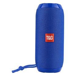 Tech Zebra Wireless Speakers Blue - Blue Water-Resistant Tall Bluetooth Speaker