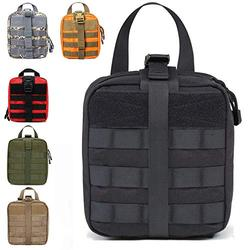 TF TOURFUN First Aid Pouch EMT MOLLE Medical Bags Rip-Away IFAK Tactical Utility Pack Military Emergency Kit for Outdoor Activities Medical Supplies 1000D Nylon (Empty Bag-Black)