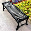 Park Terrace Bench Outdoor Metal Bench,Backless Garden Bench with Armrests Outdoor Rugged Porch Chair Garden Bench, Used for Working Passage/Lawn/Deck, Can Accommodate 2-3 People