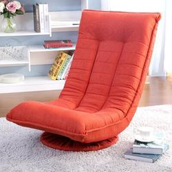 "Latitude Run® Benjeman Full 19.7"" Loose Back Futon Chair Metal/Cotton/Cotton Blend in Green/Orange, Size 30.0 H x 19.7 W x 30.0 D in   Wayfair"