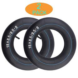 18x8.50-8/18x9.50-8 Inner Tube Replacement for Mowers, Hand Trucks, Wheelbarrows, Carts, Premium Lawn and Garden Inner Tube (2-Pack)