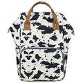 Essfeeni Cow Print Baby Diaper Bag Backpack Waterproof Diaper Bag Large Mommy Diaper Bag Insulated Diaper Bag (Cow - Black White)