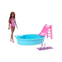Barbie Dolls - Barbie Brunette Doll Pool Set
