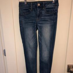 American Eagle Outfitters Jeans | American Eagle Super Stretch Jegging Jeans 2 Reg | Color: Blue | Size: 2