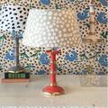 "Dana Gibson Inc. 22"" Table Lamp Metal/Fabric in Yellow, Size 22.0 H x 16.0 W x 16.0 D in | Wayfair 034-BamCThumbPrint"