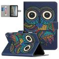 Fire HD 8 Plus Case 2020, Fire HD 8 Case 10th Generation 2020 Release, APOLL PU Leather Folio Stand Lightweight Kids Girls Protective Smart Cover with Card Holder Auto Wake/Sleep, A-Owl