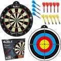 Safe Magnetic dart board for kids and adult - 14 magnet darts, kids dart board set, magnetic toy for boys girls teens, adults as a replacement for professional dart boards or lawn darts kids games.