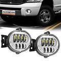 Auxbeam LED Fog Lights for Dodge Ram 1500 2002-2008, Fog Lamps for Dodge Ram 2500 3500 2003-2009, Dodge Durango 2nd Generation 2004, Dodge Durango 2005-2006, 63W High Power, Chrome
