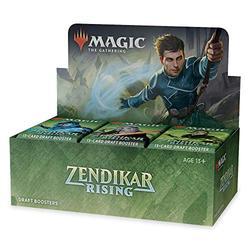 Magic: The Gathering Zendikar Rising Draft Booster Box | 36 Booster Packs (540 Cards) + 1 Box Topper | 36 Full Art Lands | Factory Sealed