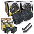 20 Inch Bike Tire Packages for Kids and BMX Tires. Fits 20x1.75 Bike Tube, Tire, Rims, Front or Rear Wheels. Includes Tire Tools. with or Without Tubes. 1 Pack or 2 Pack. (2 Tires - with Tubes)