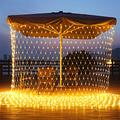 11.5ft x 5ft 360 LED Connectable LED Net Lights, 8 Modes Low Voltage Mesh Fairy String Lights, Christmas Net Lights for Garden, Bushes, Wedding, Outdoor Indoor, Xmas Tree Decorations (Warm White)