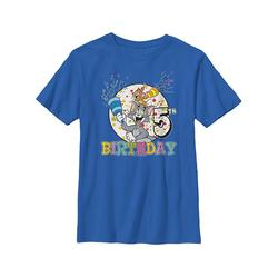 Fifth Sun Boys' Tee Shirts ROYAL - Tom & Jerry Royal '5th Birthday' Tee - Boys