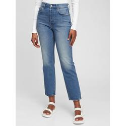 High Rise Cheeky Straight Jeans With Washwelltm - Blue - Gap Jeans