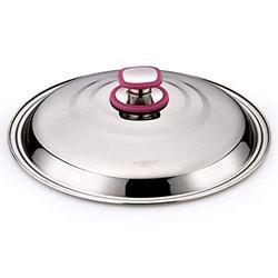 Couvercles pour marmites Ronde en acier inoxydable Pot couvercle Wok Pan Pot de fer Couvercle avec couvercle en acier Violet Rim Cap Diamètre 30 cm Couvercle Wok/Couvercle en dôme (Taille : 36cm)