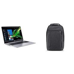 "Acer Aspire 5 Slim Laptop, 15.6"" Full HD IPS Display, AMD Ryzen 7 3700U, RX Vega 10 Graphics, 8GB DDR4, 512GB SSD & Acer Travel Laptop Backpack"