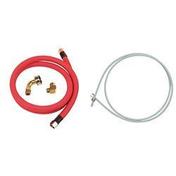 Whirlpool W10278627RP 6-Feet Universal Dishwasher Hose Kit & 8212547RP Pex Ice Maker Hook-Up Kit, white