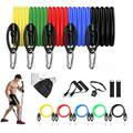 Resistnace Bands Set for Home Exercise - A Home Gym in a Bag, LIKE SHOP 11 pcs Exercise Resistance Bands Set for Man and Woman Portable Home Gym Accessories