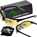 1.50 Full Magnifying Shooting Safety Glasses MAGSHOT Pick Frame & Lens Color (Lens color: Yellow Anti-Fog, Frame color: Black)