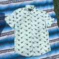 American Eagle Outfitters Shirts | American Eagle Toucan Button Up Short Sleeve Shirt | Color: Black/Blue | Size: M