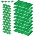 Lot de 25 piquets de sol en plastique PE-HD de 3,4 m² Vert
