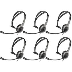 Panasonic KX-TCA430 Lightweight Reversible 2.5mm Headset Plug Noise-Canceling Microphone Over The Head Headset (6 Pack)