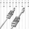 """Metal Skewers for Grilling - 10PCS 17"""" Kabob Skewers for Grilling, Reusable Shish Kabob Skewers, Flat Blade BBQ Skewers with Slider, Stainless Steel Kebab Skewers, Heavy Duty Grilling Accessories"""