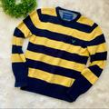 American Eagle Outfitters Sweaters | American Eagle Outfitters Striped Sweater | Color: Blue/Yellow | Size: L