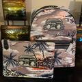 Coach Bags | 2pc Coach Keith Haring Backpack & Pouch Set Nwt | Color: Black/Gray | Size: Os