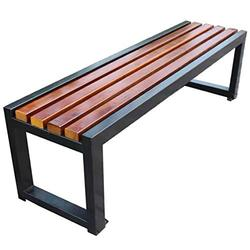Household Products Metal Garden Benches, Anticorrosive Solid Wood Outdoor Park Benches, Cast Iron Frame Antirust Terrace Benches, for Indoor and Outdoor Lawn Streets