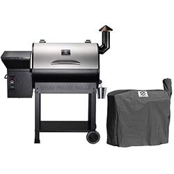 Z GRILLS ZPG-7002E Wood Pellet Grill BBQ Smoker for Outdoor Cooking, 2020 Upgrade, 8-in-1 (Grill with cover)