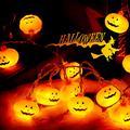 16.4 Ft Halloween String Lights 40 LED Pumpkin Orange Lights Halloween Pumpkin Shape String Lights Halloween String Light Decorations for Patio Garden Gate Yard Decor