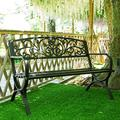 Household Products Park Chairs Outdoor Double Benches, Wrought Iron Terrace Benches with armrests, Family Decoration, Leisure Park Benches, for porches/Parks/Yards