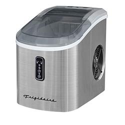 Frigidaire Counter Top Ice Maker with Over-Sized Ice Bucket, Stainless Steel - ICE103