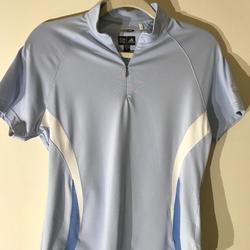 Adidas Tops   Adidas Light Blue Climacool Top M Medium Run Walk   Color: Blue/White   Size: M