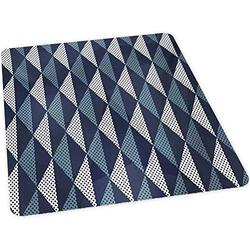 """Office Chair mat for Hardwood Floor, Rhombuses and Dots Composition of Abstract Shapes Retro Re, 35"""" x 47"""" Easy Glide for Chairs, Flat Without Curling, Floor Mats for Computer Desk, Bluegrey Dark Blue"""