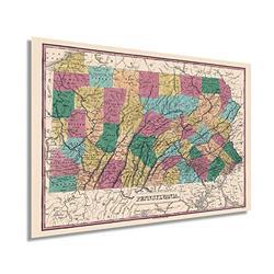 Historix Vintage 1829 Pennsylvania State Map - 24x36 Inch Vintage Map Pennsylvania Wall Art - Map of Pennsylvania State - PA Wall Art - Map of Pennsylvania State - Old Pennsylvania Map (2 Sizes)