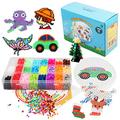 Fuse Beads Craft Kit for Kids, Crafts Toys for Ages 6-8 Kids, 5mm Fuse Beads Craft Set, Xmas Gifts Toys for Kids, 7800 Beads Arts and Crafts Christmas Decorations (24Colors)