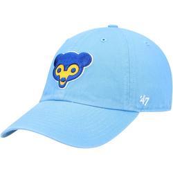 """Men's '47 Light Blue Chicago Cubs Logo Cooperstown Collection Clean Up Adjustable Hat"""