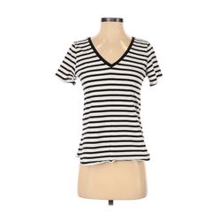 Old Navy Short Sleeve T-Shirt: Black Stripes Tops - Size X-Small