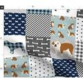 Spoonflower Fabric - English Bulldog Pet Quilt Dog Breed Collection Cheater Bulldogs Dogs Printed on Minky Fabric by The Yard - Sewing Baby Blankets Quilt Backing Plush Toys