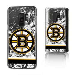 Boston Bruins Galaxy Stripe Clear Ice Case