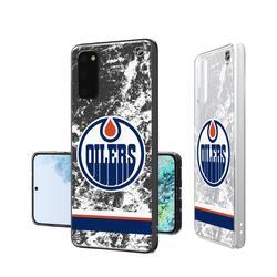 Edmonton Oilers Galaxy Stripe Clear Ice Case