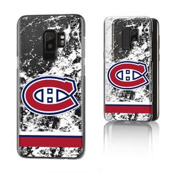 Montreal Canadiens Galaxy Stripe Clear Ice Case