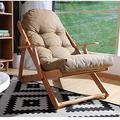 Loisirs de Plein air Chaise Longue en Bois Massif Balcon Chaise Longue Chaise de Jardin Chaise zéro gravité Chaise Longue extérieure Chaise Longue portative, Chaise Longue