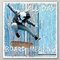 Latitude Run® Board Meeting 2 by Norman Wyatt Jr. - Wrapped Canvas Graphic Art Print Metal in Blue/Brown, Size 40.0 H x 40.0 W x 2.0 D in   Wayfair